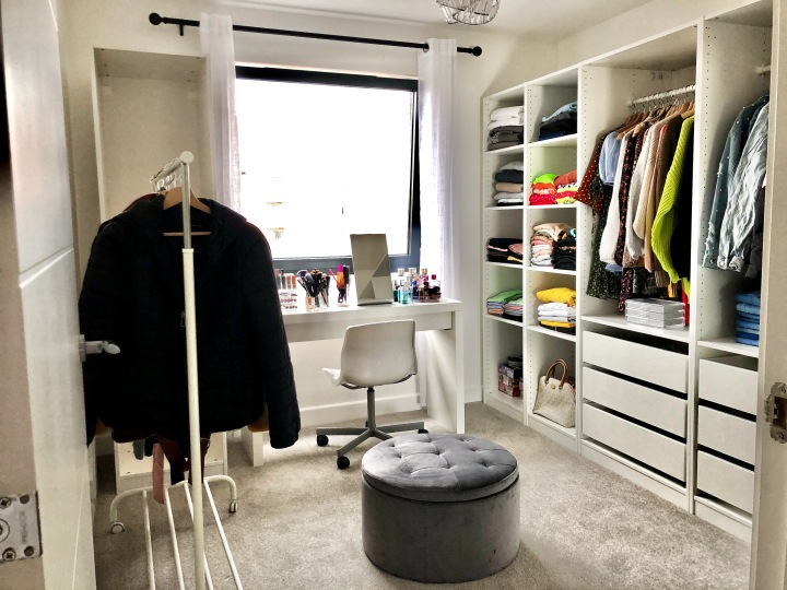 How I turned a small room into a walk in wardrobe on abudget